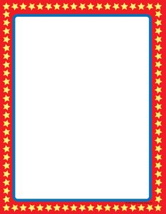 Designer Paper - Star Border (50 Sheet Package)