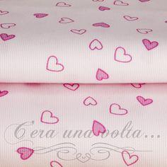 Merceriaceraunavolta.it | Tessuto Piquet in cotone a cuori