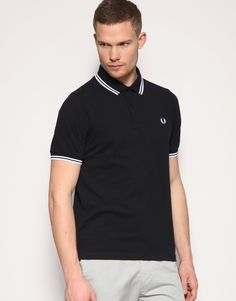 Fred Perry twin-tipped polo (black)