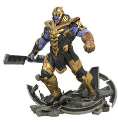 Take over the universe with the Marvel Milestones Avengers: Endgame Armored Thanos. With the Infinity Gauntlet, dominate the Avengers and stake your place as the ruler of the universe.