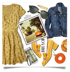 """""""Spring Brunch"""" by wuteringheights ❤ liked on Polyvore featuring Hollister Co., Gap, Anya Hindmarch, Gucci, Pottery Barn, Charter Club, Ray-Ban, Folio and Kevyn Aucoin"""