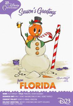 Hello from Orange Bird! 23 Days of Christmas « #Disney D23