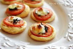 Recipe and ingredients for tomato tarts