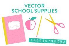 Vector School Supplies   @creativework247