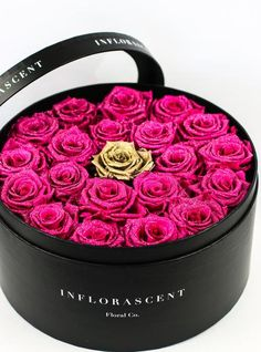 Glitz And Glam - Roses That Last A Year – Inflorascent Floral Co. Valentines Gift Box, Valentine Special, Box Roses, Rose Arrangements, Luxury Flowers, Glitz And Glam, Flower Boxes, Flower Crafts, Rose Buds