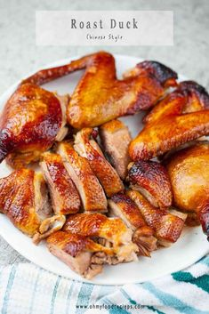 Chinese Duck Recipe, Chinese Roast Duck, Roasted Duck Recipes, Crispy Duck Recipes, Roasted Meat, Mochi, Asian Recipes, Healthy Recipes, Chinese Recipes