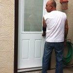It's me Dov, Installing a new steel door with mini blinds