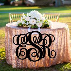 Monogram Wedding Sign