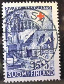 OULUN 1: SUOMI FINLAND -postimerkit Red Cross, Postage Stamps, Finland, Denmark, Nostalgia, Baseball Cards, Croissant, Vintage, Collection