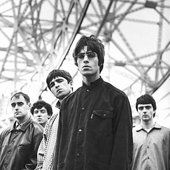 Oasis: Paul Arthurs, Tony McCarroll, Noel Gallagher, Liam Gallagher and Paul McGuigan, Oasis Band, Musica Oasis, Rock Poster, Culture Pop, Band Pictures, Rock Band Photos, Band Photography, Britpop, Music Icon