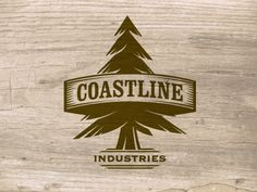 Natural Pine Tree Vintage Emblem Logo Set