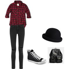 casual by unicornbestyle on Polyvore featuring polyvore fashion style Abercrombie & Fitch rag & bone Converse Coach Pieces