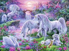 Cross stitch pattern unicorns  Cross stitch fantasy  Large