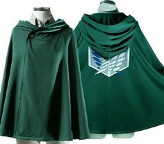 New Attack on Titan Survey Corps Eren Mikasa Levi Cloak Costume Cosplay COS98 GR by tailorguy on Etsy https://www.etsy.com/listing/203209444/new-attack-on-titan-survey-corps-eren