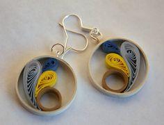 Pendientes de papel circulares de alegres tonalidades por Zarzillos