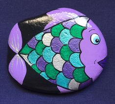 Seashell Painting, Pebble Painting, Pebble Art, Stone Painting, Painted Garden Rocks, Mandala Painted Rocks, Hand Painted Rocks, Fish Rocks, Pet Rocks