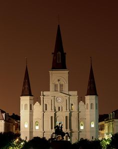 ✯ St Louis Cathedral at Night - New Orleans, LA