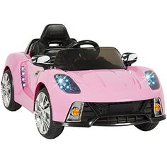 Best Choice Products Kids 12V Ride On Car with MP3 Electric Battery Power Pink  Best Choice Products presents you this brand new Pink R/C Radio car. The R/C MP3 kids' radio-control car is great fun for any toddler to drive and is equally entertaining for the adult who wants to participate with the wireless remote. Our ride on car comes with (2) 12V motors and features two speeds: High and Low so you can make sure your child drive in style. Absolutely stunning sports car with working ..