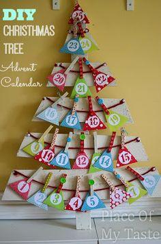 DIY CHRISTMAS TREE ADVENT CALENDAR { Tutorial } - PlaceOfMyTaste@SUNTRUP BUICK GMC 4200 N SERVICE ROAD ST PETERS, MO 63376 (636)939-0800 WWW.SUNTRUPBUICKGMC.COM - RACHEL WILCOX