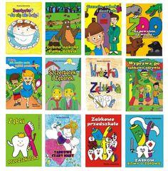 Zestaw 12 książeczek, które edukują dzieci w kwestiach stomatologicznych. Uczą prawidłowej higieny jamy ustnej, oswajają strach dziecka przed wizytą u dentysty i ortodonty. Teksty zostały opatrzone rysunkami wykonanymi przez plastyków, którzy postawili sobie za cel stworzyć obrazy podobne stylem i formą do tych, jakie tworzą dzieci.