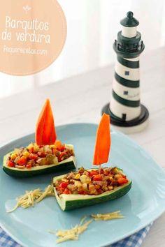 recetas para niños: Verduras en barquitos