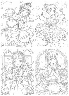 Flower Girl Coloring Books Elegant Coloring Book Of Flower Fairy and Dresses – Kayliebooks Detailed Coloring Pages, Cute Coloring Pages, Flower Coloring Pages, Disney Coloring Pages, Adult Coloring Pages, Coloring Books, Anime Drawings Sketches, Cool Art Drawings, Anime Sketch