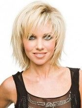 Free Style Medium Straight Layered Hairstyle Exquisite Synthetic wig from aliwigs