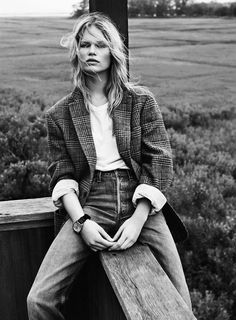 Anna Ewers By Josh Olins For Vogue Paris October 2013 | Style Inspo