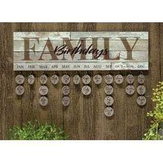 Family Birthday's Calendar LDS Mormon Latter dat Saint Family Birthday Calendar, Family Birthday Board, Birthday Month, Wooden Tags, Wooden Diy, Diy Birthday Reminder, Rustic Birthday, Barn Wood Projects, Diy Calendar