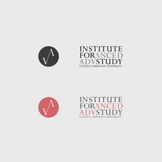 CEU Institute for Advanced Study identity by Akos Polgardi, via Behance