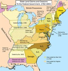 State Land Claims and Cessions to the Federal Government, 1782-1802