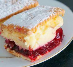 Prajitura fara coacere cu gem de visine si budinca de vanilie - Agendautila Biscuit, Cheesecake, Pie, Desserts, Food, Model, Torte, Tailgate Desserts, Dessert