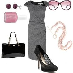 Pink & Gray dressy outfit...cute!