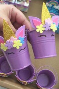 Unicorn Crafts for Kids - Cute & Easy DIY Unicorn Craft Ideas, DIY and Crafts, Cute Unicorn Buckets! Cute and Easy Unicorn crafts for kids of for unicorn birthday parties. Kids Crafts, Kids Birthday Crafts, Craft Projects For Kids, Crafts For Kids To Make, Diy For Girls, Diy Birthday, Diy Crafts To Sell, Diy Crafts For Kids, Craft Ideas