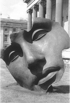 """Light of the Moon"", ""Light of the Moon"" , by Igor Mitoraj Roman Sculpture, Sculpture Clay, Igor Mitoraj, Face Anatomy, Bronze, Art Gallery, Land Art, Oeuvre D'art, Portraits"