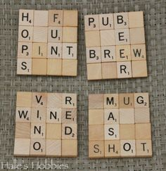 Scrabble Coasters | Halle's Hobbies