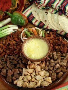 Mexican food! Meat tray