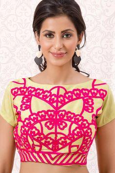a0aac63671bed2 Shop Now Light Green Banglori Silk Readymade Designer Blouse.more  collection wedding blouse
