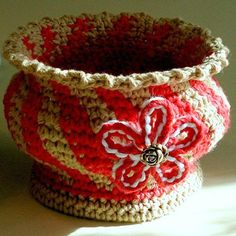 Instant Download  Crochet Pattern  Soft Pottery Bowl by Genevive ♡