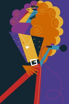 Pablo Lobato ~ Robert Plant of Led Zeppelin Polygon Art, Cubism Art, Caricature Artist, Robert Plant, Cool Posters, Rock Art, Illustration Art, Character Design, Painting