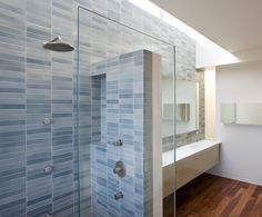 Here is the one I had pinned to our Bathroom board.  New Crystal Blue: Installation Inspiration - Heath Ceramics
