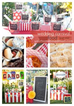 Check out this fabuslous wedding carnival and the food that was served