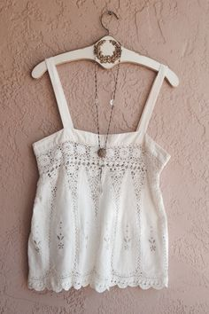Romantic embroidered beach bohemian camisole