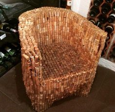 Told ya! Cork art is a real thing... Now, please take a seat.