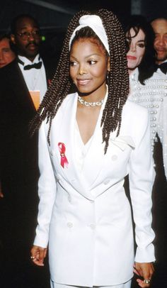 Janet Jackson's Thick Braids Hair that was the envy of many a woman.-pin it by carden Poetic Justice Braids, Trendy Hairstyles, Braided Hairstyles, Hairstyles Haircuts, Jo Jackson, Janet Jackson 90s, Jackson Family, The Jacksons, Looks Style