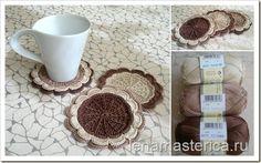 """Delicadezas en crochet Gabriela: Stands taza """"flor de chocolate."""""""
