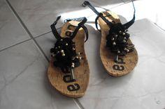 Damen Sandalen Sandaletten Zehentrenner Riemchen Schwarz 37 37,5 LA STRADA Flip | eBay