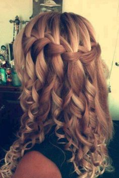 Love the waterfall braid wish I could do it