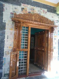 Surya Palagai Design for Main Door Pooja Room Door Design, Bedroom Door Design, House Gate Design, Door Design Interior, House Front Design, Bed Design, Wall Design, Single Door Design, Wooden Front Door Design