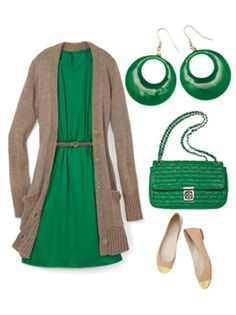 Gorgeous way to wear green